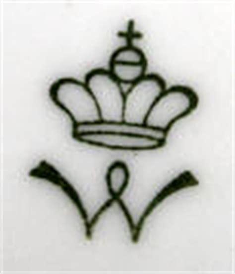 Porzellanmarken Krone W porzellanmarken bestimmen mit der sammler
