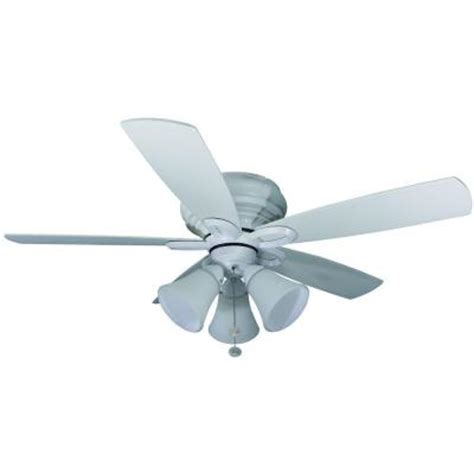 home depot small ceiling fans hton bay maris 44 in indoor white ceiling fan 26628