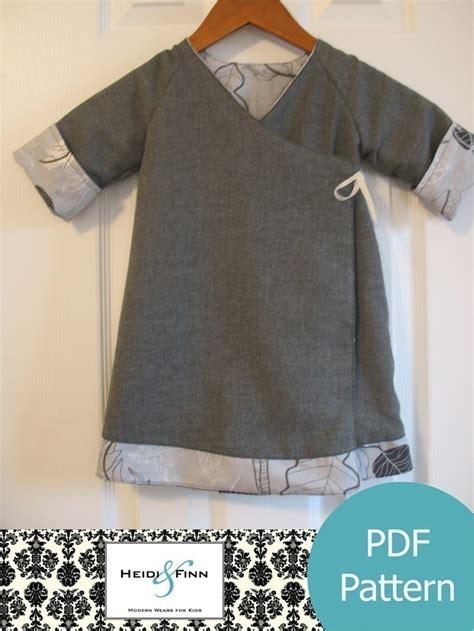 pattern kimono dress sweet wrap reversible dress pattern and tutorial 12m 6t