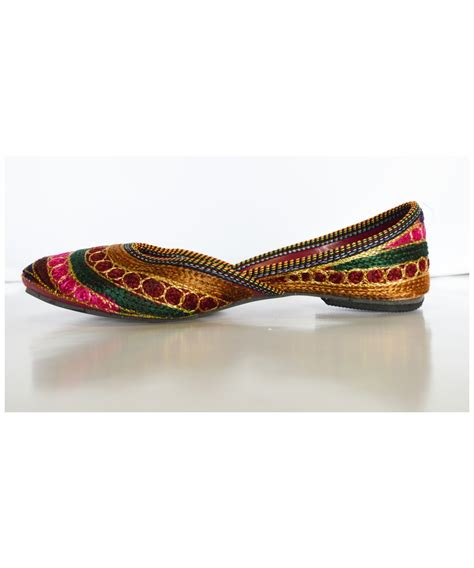 indian shoes womens indian khussa shoes with multicolored stripes
