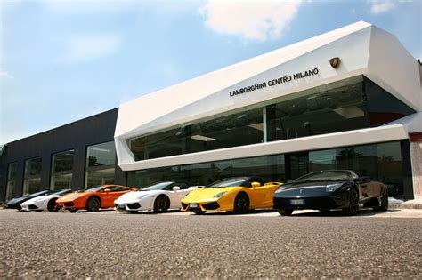 lamborghini showroom building lamborghini centro milano newest dealership cartype