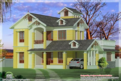 small villa design 3 bedroom luxurious small villa kerala home design