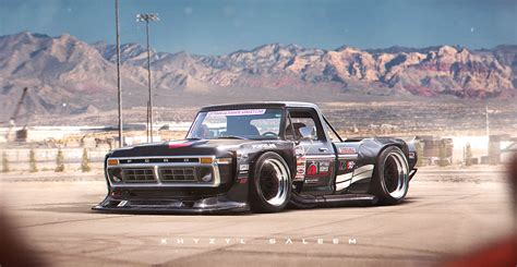 widebody toyota truck 1974 wide ford f100 truck damnedwerk