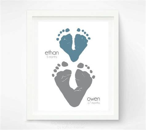 valentines gifts for dads gift for child footprint hearts personalized