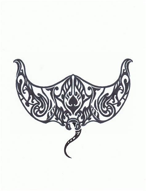 tribal stingray tattoo cliparts co