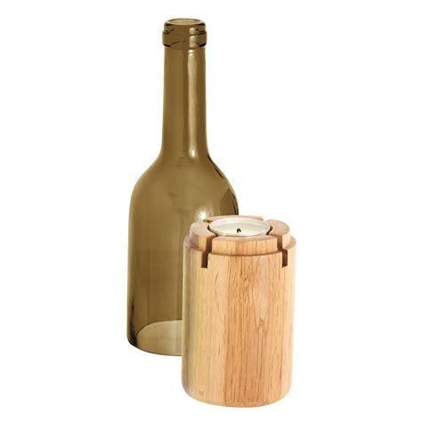 siena tea light holder brown bottle