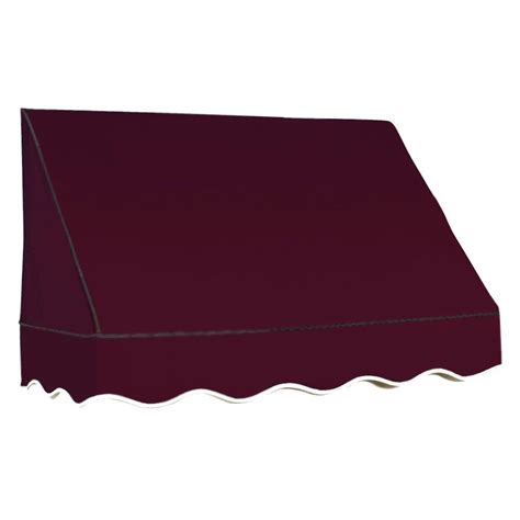 awnings san francisco awntech 3 5 ft dallas retro awning 31 in h x 24 in d in burgundy rr22 3b the