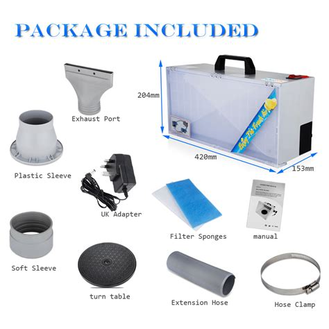 spray booth extractor fan hobby airbrush spray booth kit exhaust fan filter