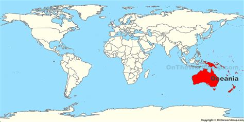 location on world map oceania location map