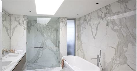 all marble bathroom 5 reasons to use calacatta marble tiles in your bathroom