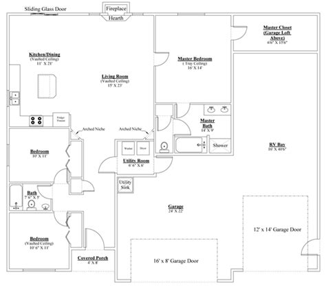 garage homes floor plans grand elizabeth rv single floor plans palmer alaska