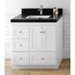 vanity with drawers ronbow 081930 3r shaker 30 vanity cabinet with 2 wood