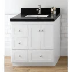 Vanity Drawers Ronbow 081930 3r Shaker 30 Vanity Cabinet With 2 Wood