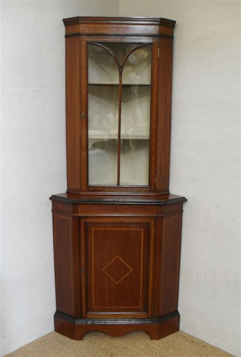 Corner Display Cabinets by Corner Display Cabinet 238608 Sellingantiques Co Uk