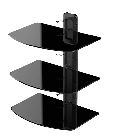 Receiver Shelf by 3 Tier Wall Tv Component Av Glass Stand Shelf Mount Dvd Receiver Rack In Tv Mount From Consumer
