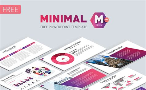 Minimal Free Business Powerpoint Template 20 Slides Just Free Slides Free Powerpoint Template Design 2017