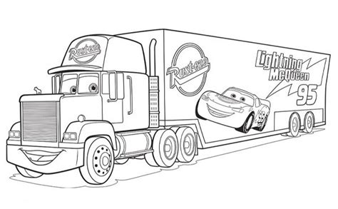 coloring pages cars mack coloriage cars mack coloriage disney pinterest cars
