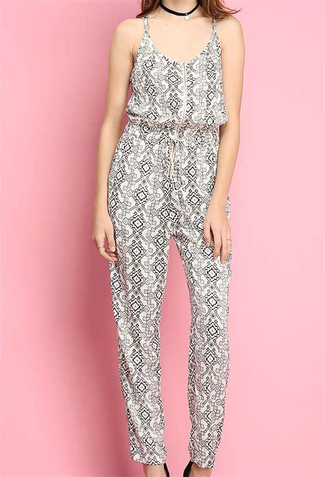 geo pattern jumpsuit geo pattern jumpsuit shop sale at papaya clothing