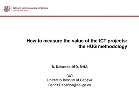 how to measure the value of the ict projects