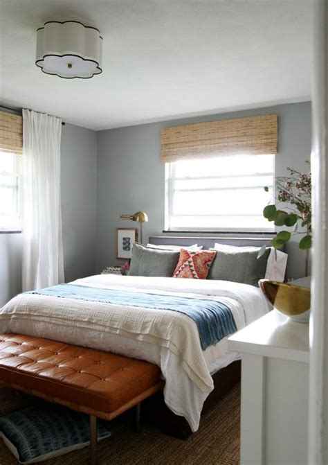 Bedroom With Bamboo Blinds Bedrooms Bamboo Blinds And Window Treatments On