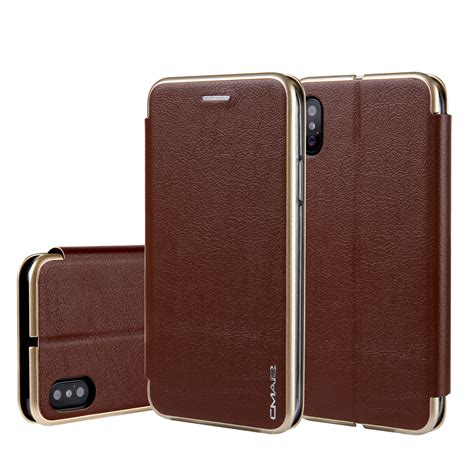 Iphone 8 Luxury Leather With Card Slot for iphone 7 8 plus x 10 luxury magnetic fold stand leather card slot cover ebay