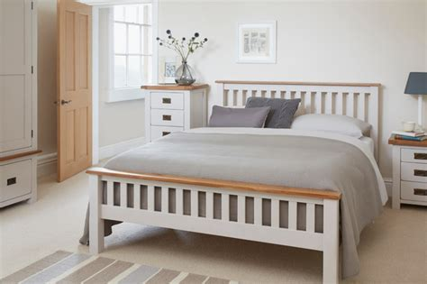 kemble rustic oak and painted bedroom contemporary
