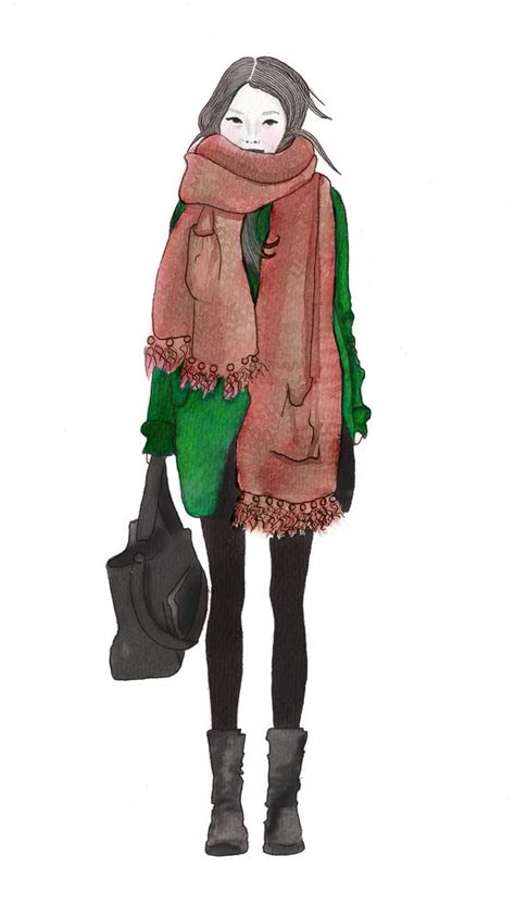 fashion illustration facts scarfs fashion illustrations and the facts on