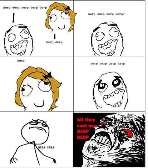 Le Derp Meme - le derp rage le rage comics