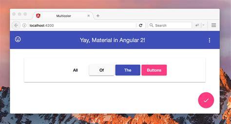 started  angular material  alligatorio