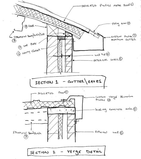 detailed roof section revit detail april 2010