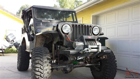 ford jeep modified 1952 willys cj 3a jeep chevy small block custom dana 44