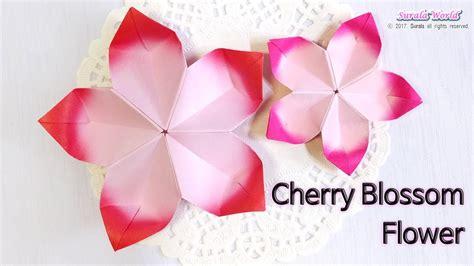 Origami Cherry Blossom - origami cherry blossom flower