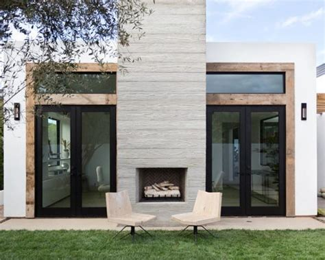 stucco outdoor fireplace home design ideas pictures