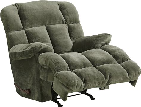 cloud recliner cloud 12 chaise rocker recliner in sage microfiber by
