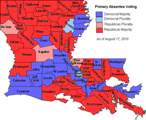 louisiana election map by parish early congressional voting in louisiana mid week edition