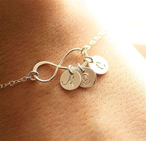 infinity initials infinity bracelet with initials clothes