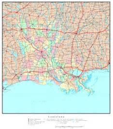 Texas Louisiana Map by Louisiana Political Map