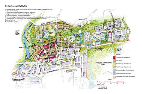 layout of land use maplewood village centre plan modus planning design