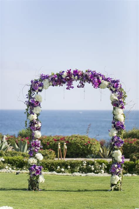 Wedding Arch Purple by Wedding Ceremony Flower Arch Purple White Wedding Arch