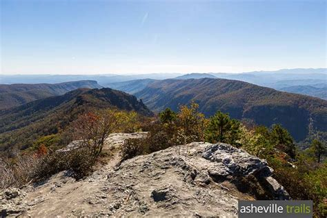 mountain rock table table rock mountain trail hiking linville gorge nc