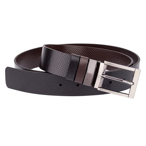 golf belts for perforated brown reversible black leather