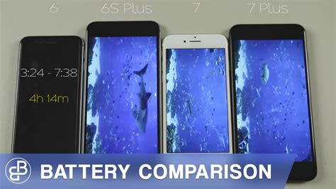 iphone 7 vs iphone 6s plus vs iphone 7 plus vs iphone 6 battery comparison battery test