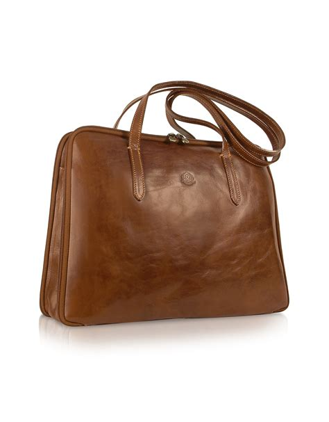 chiarugi handmade brown genuine italian leather business