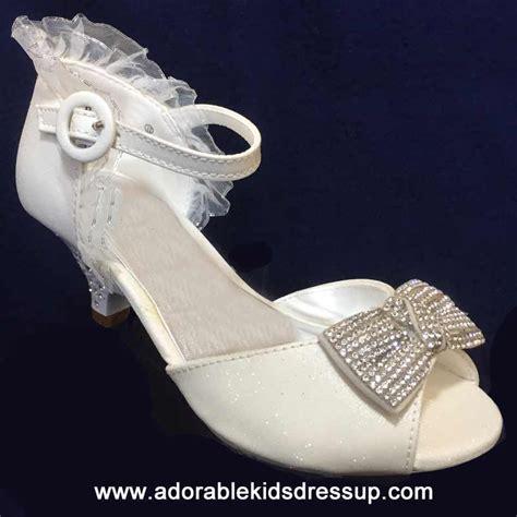 bridal high heels  kids  girls white wedding
