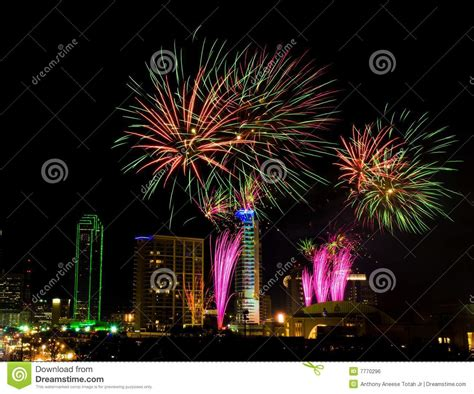 new years events dallas tx dallas fireworks royalty free stock image image 7770296