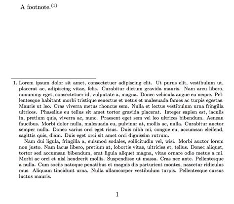 footnote format in latex different formatting of footnote mark in text and in