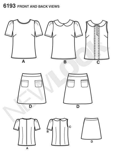 pattern review new look 6940 new look 6193 misses tops and skirts