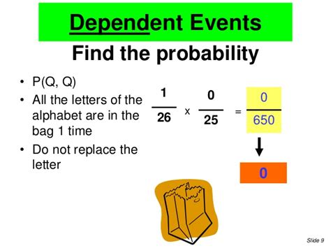 Letter Probability independent and dependent events notes