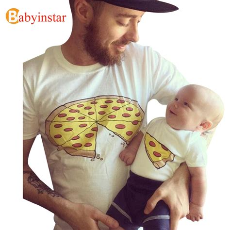 pizza pattern t shirt babyinstar father son matching clothes daddly and me