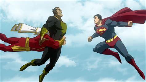 superman vs captain marvel shazam superman and captain marvel vs black adam by tsotne senpai
